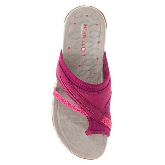 b3740b22e428 NWT Merrell Terran Post II Sandals Pink Size 7
